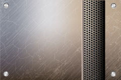 Metallic steel background Stock Images
