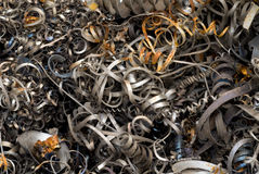 Metallic Steel Cuttings Stock Photo