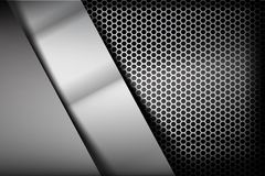 Metallic steel and honeycomb element background texture 007 Royalty Free Stock Images