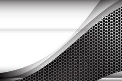 Metallic steel and honeycomb element background texture 003 Royalty Free Stock Photography
