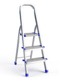Metallic step ladder Stock Photo