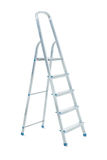 Metallic stepladder isolated on a white background Royalty Free Stock Photo