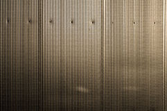 Metallic stripes 2. Metallic stripes created by cladding, suitable for background or texture screen Royalty Free Stock Photos