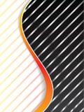 Metallic stripes with orange waves Stock Images