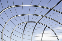 Metallic structure. Detail in the foreground of a dome Royalty Free Stock Image