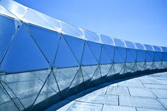 Metallic structure on blue tones. Stock Photography