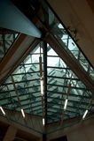 Metallic structure ceiling indoors Royalty Free Stock Photo