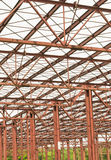 Metallic structure ceiling Royalty Free Stock Image