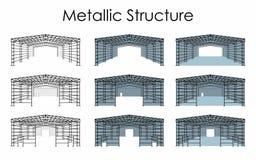 Metallic Structure colored vector illustration