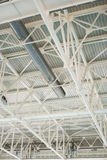 Metallic structure of industrial building roof Royalty Free Stock Photos
