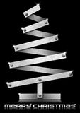Metallic and Stylized Christmas Tree Royalty Free Stock Photo