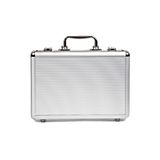 Metallic Suitcase On White Background Royalty Free Stock Images