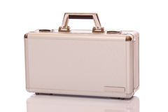 Metallic suitcase Stock Photo
