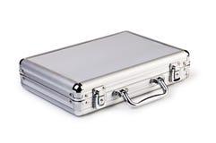 Metallic suitcase Royalty Free Stock Photos
