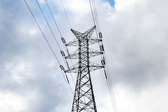 Metallic support of transmission lines Stock Images