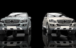 Metallic SUV Front View Stock Image