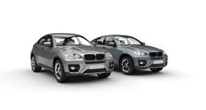 Metallic SUVs Showroom Royalty Free Stock Image
