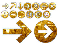 Metallic symbols Royalty Free Stock Images