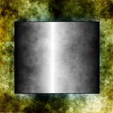 Metallic table on ancient texture Stock Photography