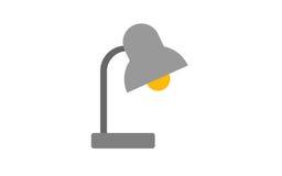 Metallic table lamp, object illustration Stock Photography