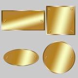 Metallic tags - golden Stock Images