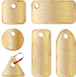 Metallic tags vector Royalty Free Stock Photography