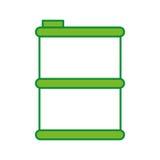 Metallic tank isolated icon Stock Images