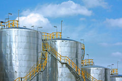 Metallic tanks Stock Photo