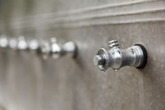 The Metallic Tap for Fresh Water Stock Image