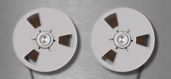 Metallic tape recorder Royalty Free Stock Photo