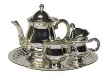Metallic Tea-service On White Royalty Free Stock Photography