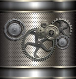 Metallic, technology background Stock Images