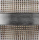Metallic template background Royalty Free Stock Photos