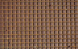 Metallic Texture. Brown metallic texture with squares Stock Photography