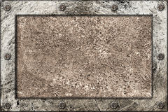 Metallic texture framed frame with bolts Stock Images