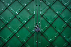 Metallic texture green background with lock Royalty Free Stock Photo
