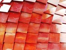 Metallic texture. Pavilion facade in Milan Expo 2015 stock images