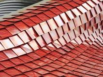 Metallic texture. Pavilion facade in Milan Expo 2015 royalty free stock images