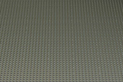 Metallic texture, with perforated surface, 3D rendering Stock Image