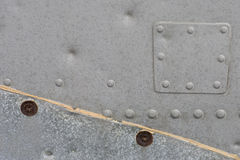 Metallic Texture with rivets Royalty Free Stock Image
