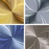Metallic texture set Royalty Free Stock Images