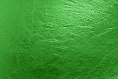 Metallic textured bright green background Stock Photography
