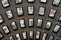 Metallic textures on sewer Royalty Free Stock Images
