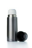 Metallic thermos flask Stock Photography
