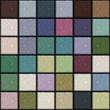Metallic tiles. Multi colored square metallic background, tiles seamless as a pattern Stock Photo