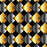 Metallic tiles background or Design element Stock Images