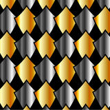 Metallic tiles background or Design element Royalty Free Stock Photo