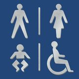 Metallic toilet icons Royalty Free Stock Images
