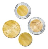 Metallic token for car wash Royalty Free Stock Images
