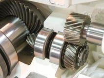 Metallic transmission gears Royalty Free Stock Photo